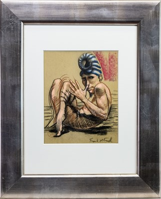 Lot 54 - CURLED UP, A PASTEL BY FRANK MCFADDEN