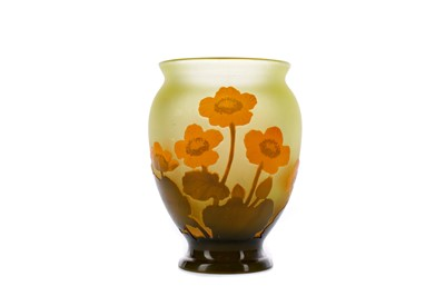 Lot 1093 - A GALLE CAMEO VASE