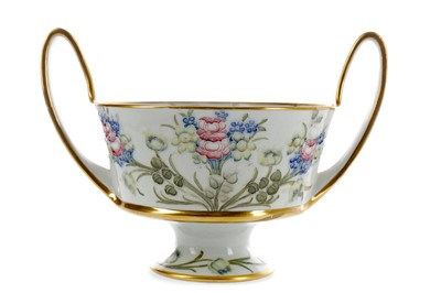 Lot 1063 - A WILLIAM MOORCROFT FOR MACINTYRE & CO TWIN HANDLED BOWL