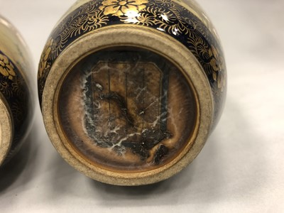 Lot 714 - A PAIR OF EARLY 20TH CENTURY JAPANESE SATSUMA VASES