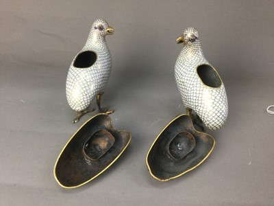 Lot 320 - A PAIR OF LATE 19TH CENTURY CHINESE CLOISONNÉ INCENSE BURNERS