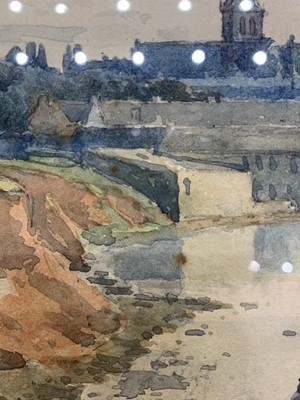 Lot 93 - AT WATER'S EDGE, A WATERCOLOUR BY TOM SCOTT