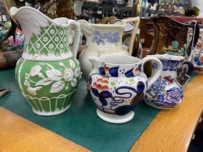 Lot 55A - A COLLECTION OF TEN 19TH CENTURY AND LATER JUGS