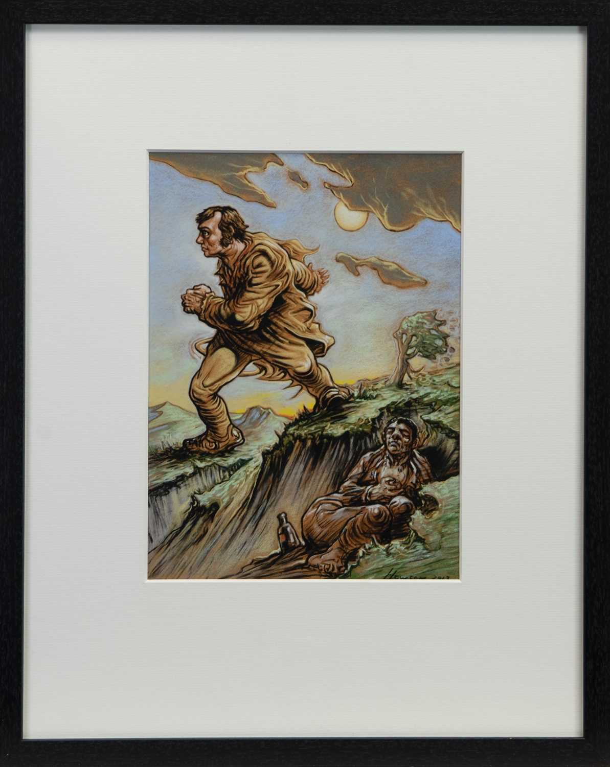 Lot 766 - AN UNTITLED LIMTED EDITION PRINT BY PETER HOWSON