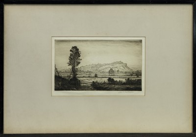 Lot 153 - STIRLING TOWN & CASTLE, AN ETCHING BY JOHN MATHIESON
