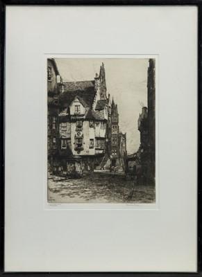 Lot 152 - JOHN KNOX'S HOUSE, EDINBURGH, AN ETCHING BY REGINALD GREEN
