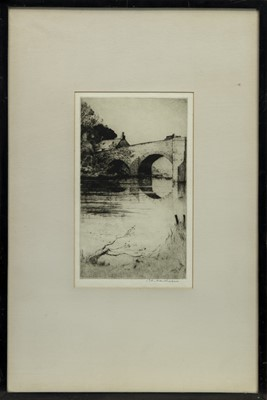 Lot 155 - DRIP BRIDGE, AN ETCHING BY JOHN MATHIESON