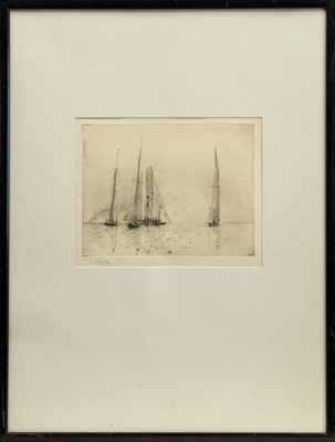 Lot 157 - YACHTS, AN ETCHING BY WILLIAM WYLLIE