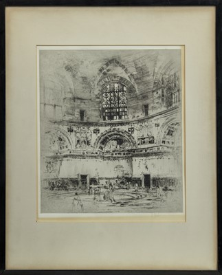 Lot 169 - THE CALDARIUM, BATHS OF CARACALLA, AN ETCHING BY WILLIAM WALCOT