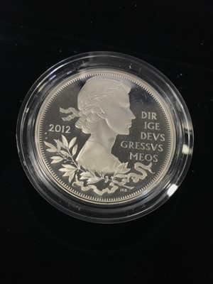 Lot 26 - THE 2012 DIAMOND JUBILEE SILVER PROOF COIN SET
