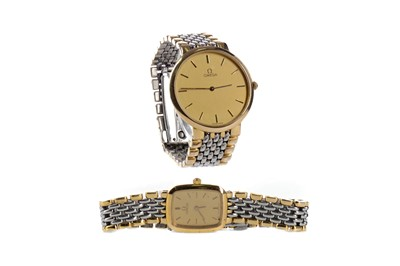 Lot 716 - A LADY'S AND A GENTLEMAN'S OMEGA WATCH