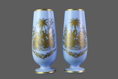 Lot 19 - A PAIR OF EARLY 20TH CENTURY OPAQUE GLASS VASE