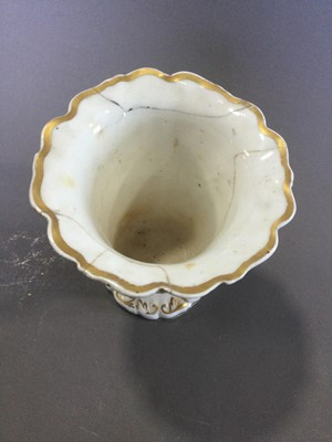 Lot 46 - A PAIR OF EARLY 19TH CENTURY ENGLISH PORCELAIN SPILL VASES, ALONG WITH ANOTHER
