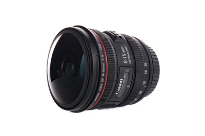 Lot 1801 - A CANON 8-15 F4 FISHEYE LENS