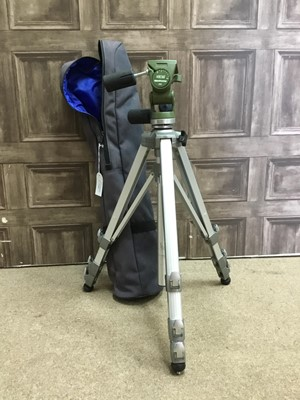 Lot 1769 - A VELBON TRIPOD SEF3 WITH MANFROTTO HEAD