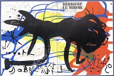 Lot 96 - DERRIERE LE MIROIR, A LITHOGRAPH BY JOAN MIRO