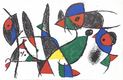Lot 101 - FOUR LITHOGRAPHS BY JOAN MIRO