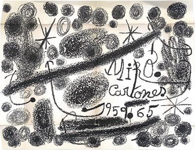 Lot 100 - CARTONES 1959-1965, A LITHOGRAPH BY JOAN MIRO