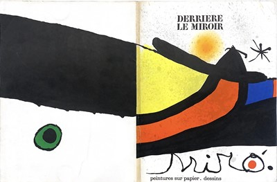Lot 99 - VARIOUS EXAMPLES OF DERRIERE LE MIROIR, LITHOGRAPHS BY JOAN MIRO