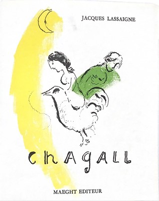 Lot 93 - CHAGALL, A BOOK BY JACQUES LASSAIGNE WITH LITHOGRAPHS BY MARC CHAGALL