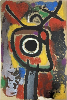 Lot 94 - CARTONES 1959-1965, A LITHOGRAPH BY JOAN MIRÓ