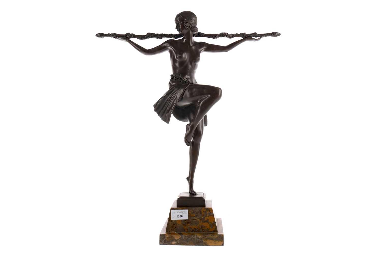 Lot 1350 - AN ART DECO STYLE FIGURE OF A DANCER AFTER PIERRE LE FAGUAYS