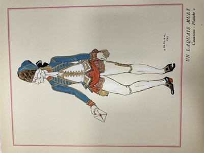 Lot 1347 - GEORGE BARBIER, PANORAMA DRAMATIQUE CASANOVA DECOR ET COSTUMES