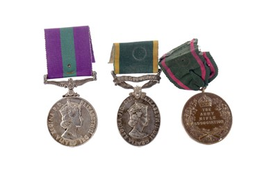 Lot 1387 - A LOT OF TWO ELIZABETH II MEDALS AND ANOTHER
