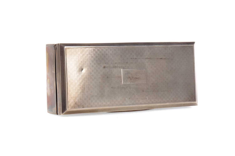 Lot 54 - A GEORGE V SILVER CIGARETTE BOX