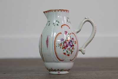 Lot 8 - A MID-19TH CENTURY CONTINENTAL FAMILLE ROSE CREAM JUG
