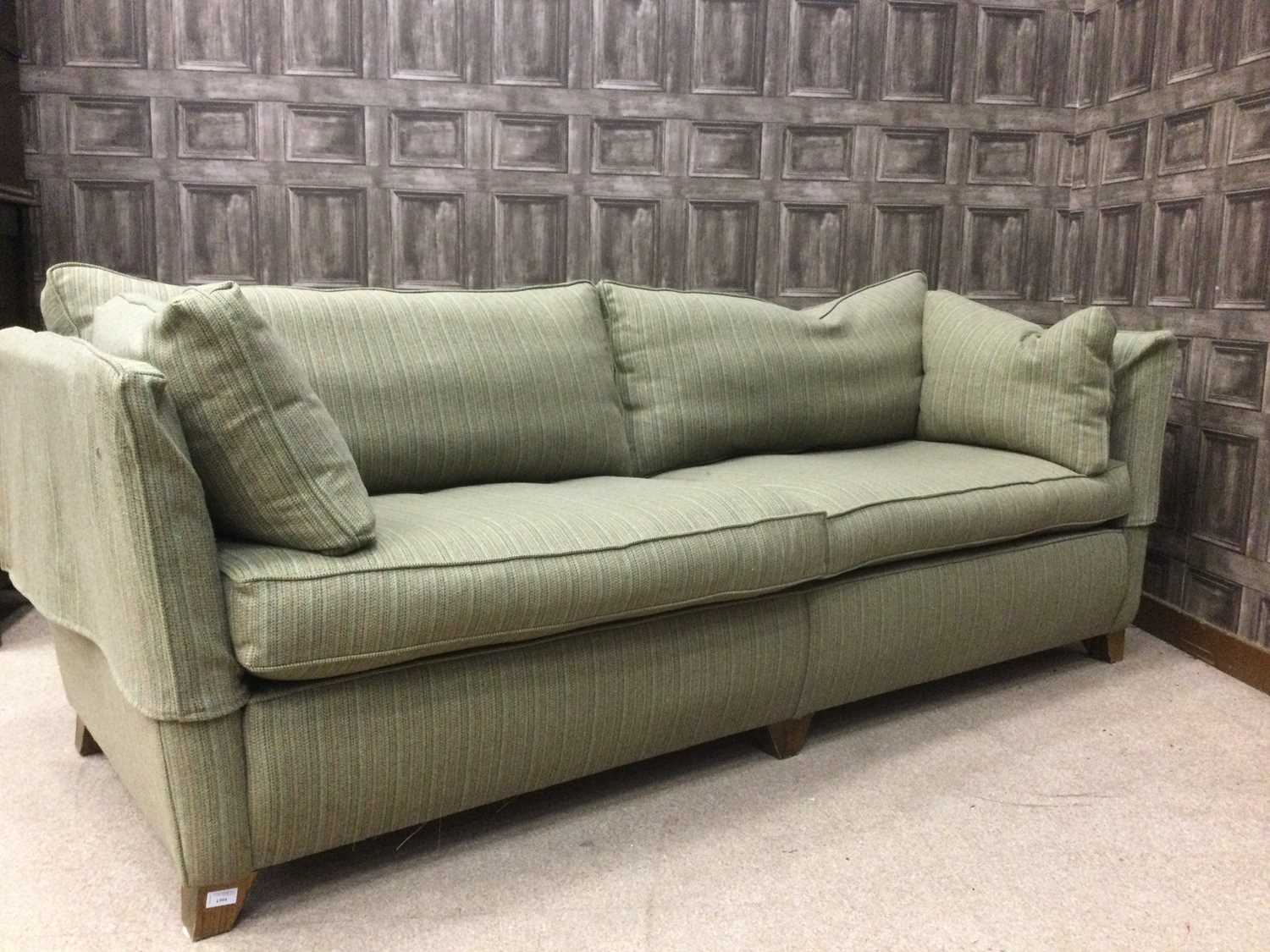 Lot 1394 - A CONTEMPORARY THREE SEAT SETTEE