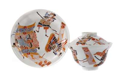 Lot 81 - A LATE 19TH CENTURY JAPANESE KUTANI VASE, ALONG WITH THREE BOWLS AND A TEAPOT