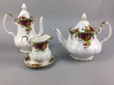 Lot 1 - A ROYAL ALBERT 'OLD COUNTRY ROSES' PART TEA AND COFFEE SERVICE