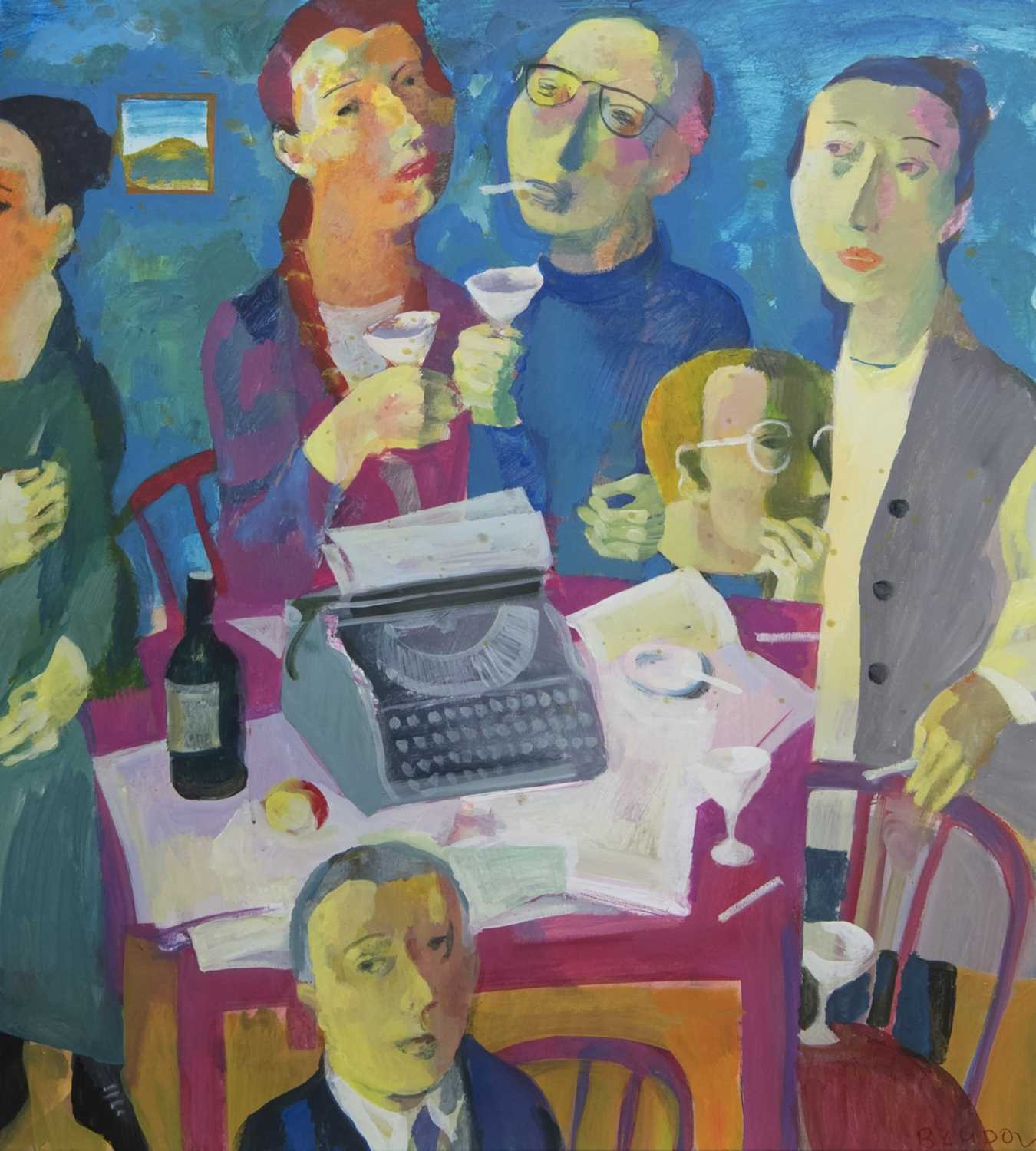 Lot 563 - WRITERS, AN ACRYLIC BY ANDREI BLUDOV