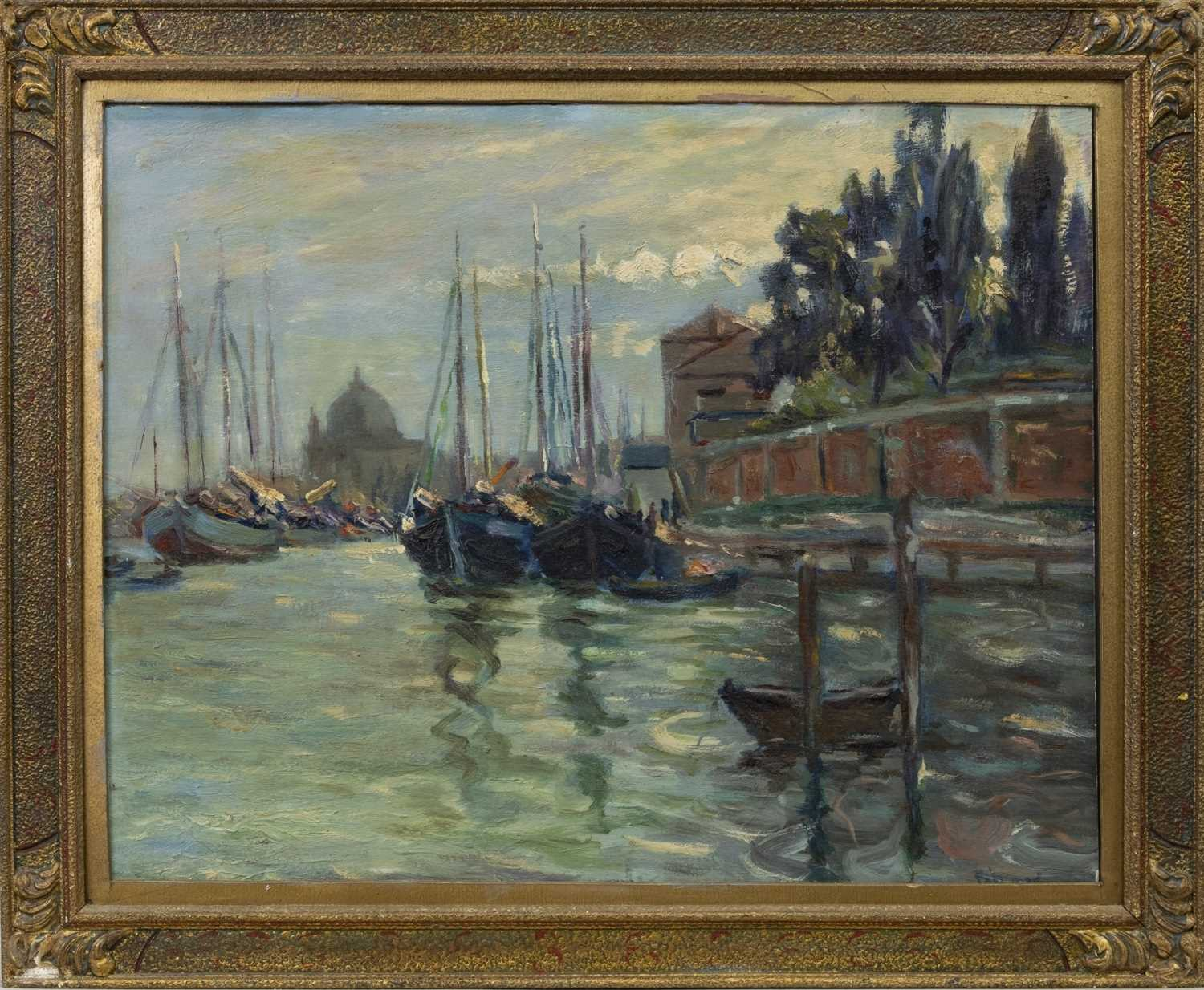 Lot 12 - VENICE, AN OIL BY AGNES TROTTER FALCONER