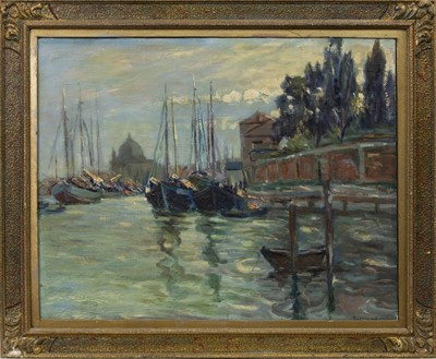 Lot 69 - VENICE, AN OIL BY AGNES TROTTER FALCONER