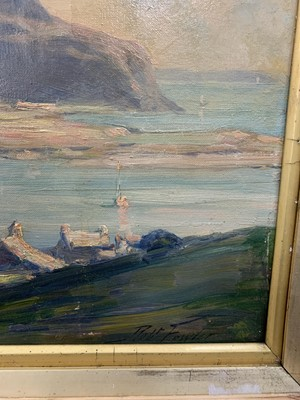Lot 15 - OFF THE SCOTTISH COAST, AN OIL BY ROBERT FOWLER