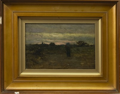 Lot 77 - AN UNTITLED OIL BY ALEX MCGREGOR