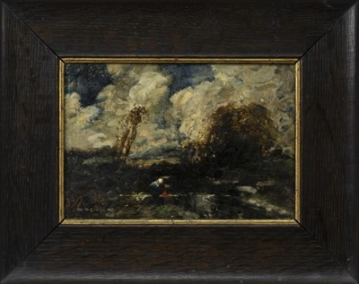 Lot 33 - AN UNTITLED OIL BY WILLIAM ALFRED GIBSON