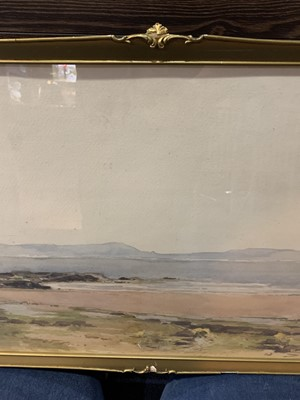 Lot 13 - LOCH LANDSCAPE, A WATERCOLOUR BY JOSEPH WILLIAM CAREY