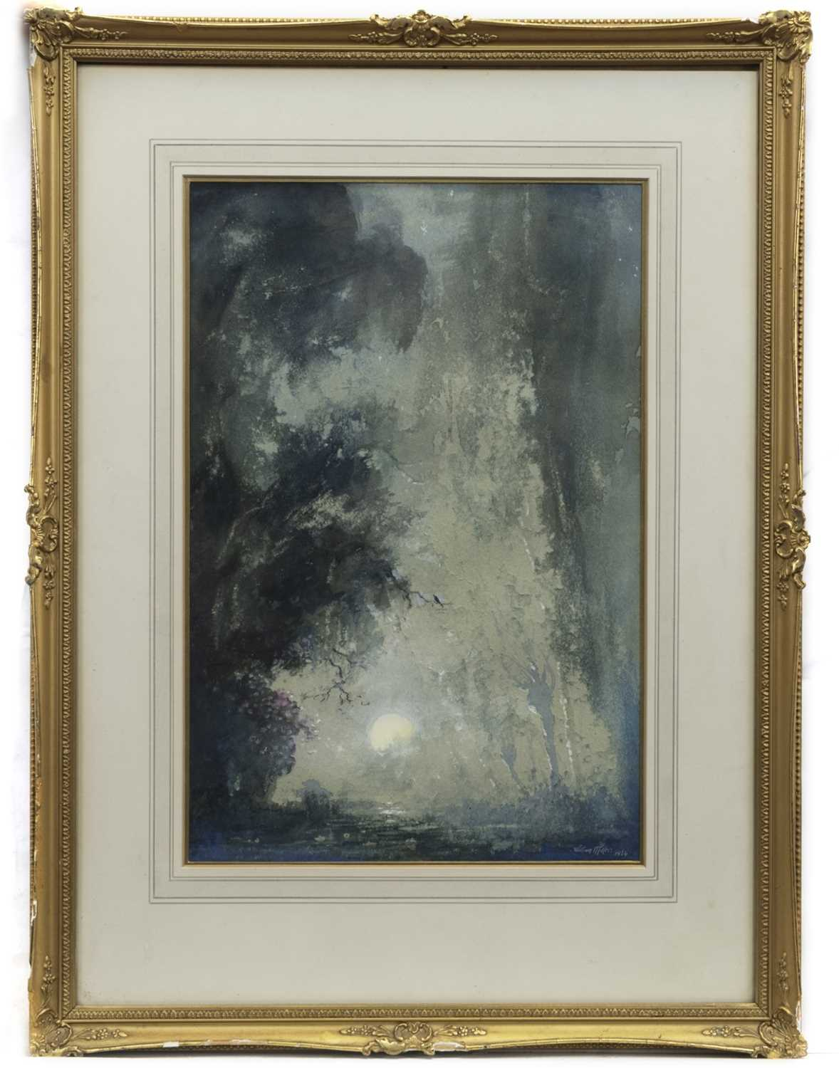 Lot 43 - THE ENCHANTED GLADE, A WATERCOLOUR BY WILLIAM MILLER