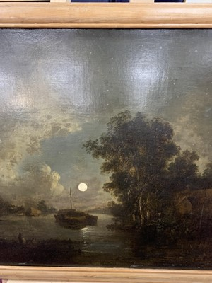 Lot 37 - MOONLIT RIVER, AN OIL ATTRIBUTED TO SEBASTIAN PETHER