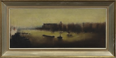 Lot 35 - LIFFEY RIVER, DUBLIN, AN OIL BY ANTHONY ROBERT KLITZ