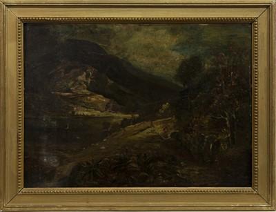 Lot 45 - HIGHLAND RIVERSCAPE, A SCOTTISH OIL