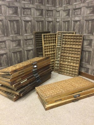 Lot 1412 - A COLLECTION OF EIGHTEEN EARLY 20TH CENTURY WOOD DRAWERS