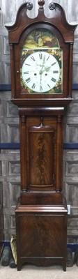 Lot 1736 - A VICTORIAN MAHOGANY LONGCASE CLOCK