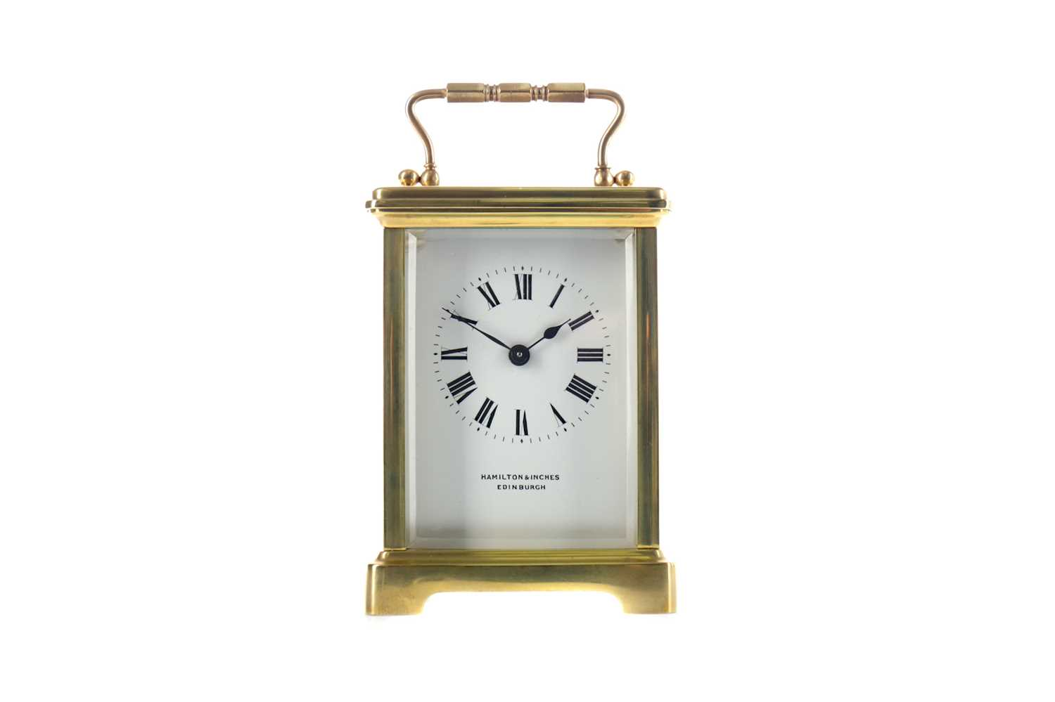 Lot 1738 - AN EARLY 20TH CENTURY CARRIAGE CLOCK