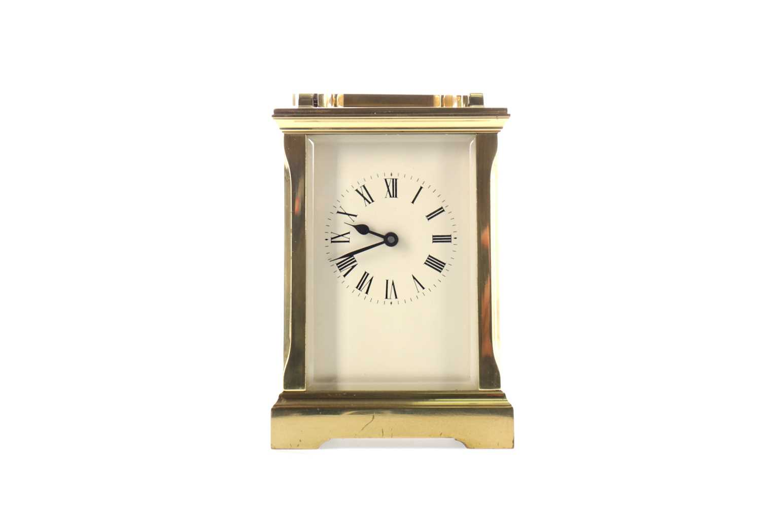 Lot 1740 - AN EARLY 20TH CENTURY CARRIAGE CLOCK