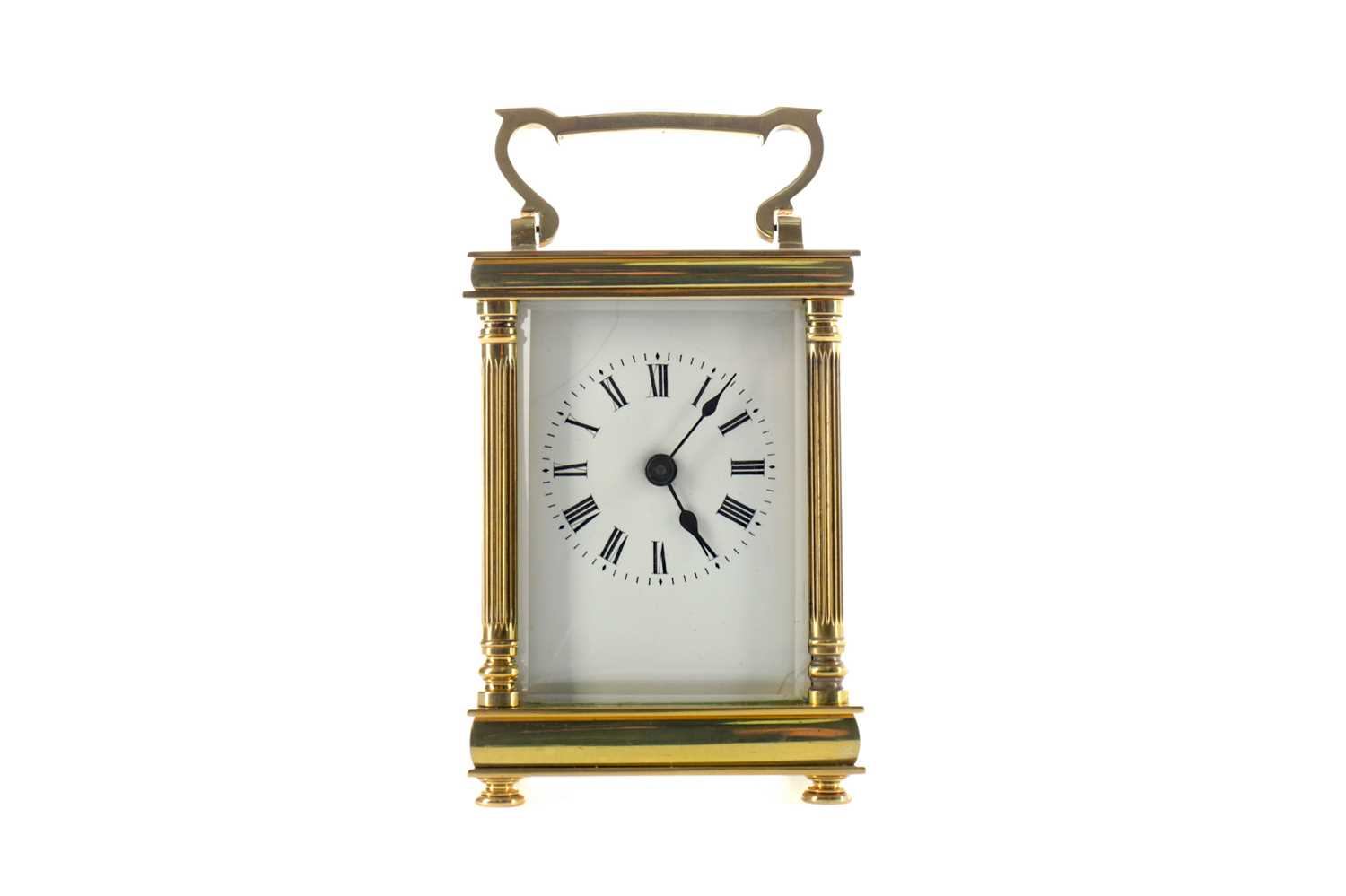 Lot 1741 - AN EARLY 20TH CENTURY CARRIAGE CLOCK