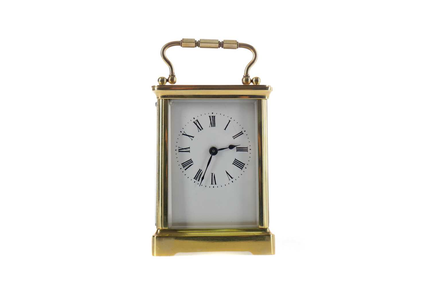 Lot 1743 - AN EARLY 20TH CENTURY CARRIAGE CLOCK